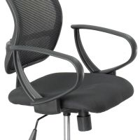 Safco Optional Loop Arm Kit for Mesh Extended Height Chair, Black, 1 Pair SAF3396BL