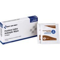 First Aid Only Povidone Iodine Antiseptic Wipes FAO12015