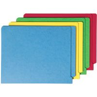Smead Colored File Folders, Straight Cut Reinforced End Tab, Letter, Assorted, 100/Box SMD25013