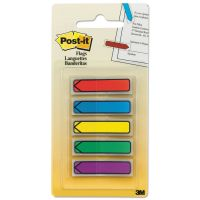"""Post-it Flags Arrow 1/2"""" Page Flags, Blue/Green/Purple/Red/Yellow, 20/Color, 100/Pack MMM684ARR1"""