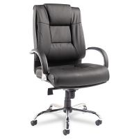 Alera Ravino Big & Tall Series High-Back Swivel/Tilt Leather Chair, Black ALERV44LS10C