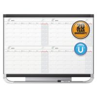 Quartet Prestige 2 Total Erase Four-Month Calendar, 36 x 24, Graphite Color Frame QRT4MCP23P2
