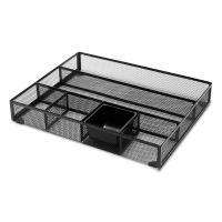 Universal Metal Mesh Drawer Organizer, 15 x 11 7/8 x 2 1/2, Black UNV20021