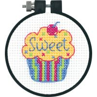 Dimensions Learn-A-Craft Cupcake Counted Cross Stitch Kit NOTM460994