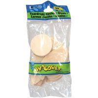 Woodsies Teardrops, Circles & Ovals Wood Shapes NOTM483823