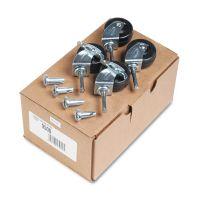 Quartet Casters For Double-Sided Dry Erase Easel w/Oak Stand, Black, 4/Set QRT9500
