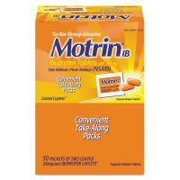 Motrin IB Ibuprofen Tablets, Two-Pack, 50 Packs/Box MCL48152