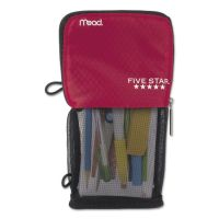 Five Star Stand 'N Store Pencil Pouch, 4 1/2 x 8, Red MEA73991