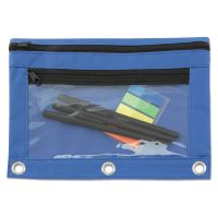 Advantus Binder Pouch with PVC Pocket, 9 1/2 x 7, Blue, 6/Pack AVT94038