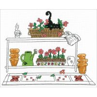 Garden Cat Counted Cross Stitch Kit NOTM098831