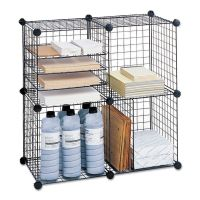 Safco Wire Cube Shelving System, 15w x 15d x 15h, Black SAF5279BL