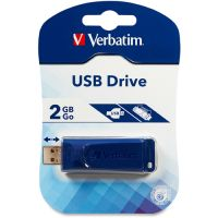 Verbatim Classic USB 2.0 Flash Drive, 2GB, Blue VER97086