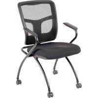 Lorell Mesh Back Fabric Seat Nesting Chairs LLR84374