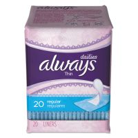 Always Dailies Thin Liners, Regular, 20/Pack PGC08279PK