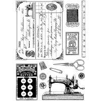 """Crafty Individuals Unmounted Rubber Stamp 4.75""""X7"""" Pkg NOTM082675"""