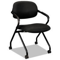 HON VL303 Series Nesting Arm Chair, Black/Black BSXVL303MM10T