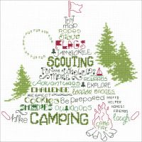 Let's Go Camping Counted Cross Stitch Kit NOTM098829