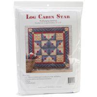 Log Cabin Star Wall Quilt Kit NOTM250033