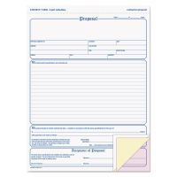 Adams Contractor Proposal Form, 3-Part Carbonless, 8 1/2 x 11 7/16, 50 Forms ABFNC3819