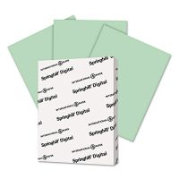 Springhill Digital Vellum Bristol Color Cover, 67 lb, 8 1/2 x 11, Green, 250 Sheets/Pack SGH046000