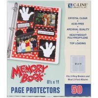 "Memory Book Top-Loading Page Protectors 8.5""X11"" 50/Pkg NOTM248679"