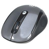 Manhattan Wireless Optical USB Mouse, 2000 dpi, Black/Silver SYNX3434712