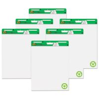 Post-it Easel Pads Self Stick Easel Pads, 25 x 30, White, Recycled, 6 30 Sheet Pads/Carton MMM559RPVAD6