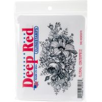 """Deep Red Cling Stamp 4.1""""X2.1"""" NOTM056614"""