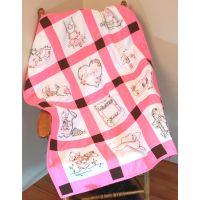 """Stamped Baby Quilt Blocks 9""""X9"""" 12/Pkg NOTM052728"""