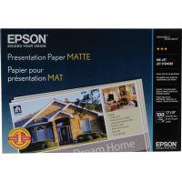 Epson Matte Presentation Paper, 27 lbs., Matte, 13 x 19, 100 Sheets/Pack EPSS041069L