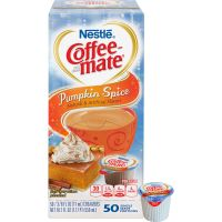 Coffee-mate Liquid Coffee Creamer, Pumpkin Spice, 0.375 oz Mini Cups, 50/Box NES75520