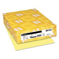 Neenah Paper Exact Index Card Stock, 90lb, 8 1/2 x 11, Canary, 250 Sheets WAU49141