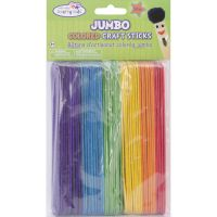 Krafty Kids Jumbo Colored Craft Sticks NOTM133121