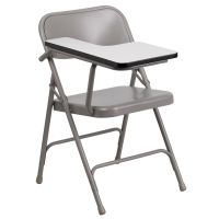 Flash Furniture Premium Steel Folding Chair with Right Handed Tablet Arm FHFHF309ASTRTGG