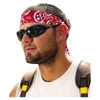 ergodyne Chill-Its 6700/6705 Bandana/Headband, One Size Fits All, Red Western EGO12305
