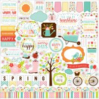 "Hello Spring Cardstock Stickers 12""X12"" NOTM332332"