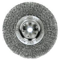 "Weiler Trulock TLN-6 Narrow-Face Crimped Wire Wheel, 6"" dia, .008 Wire WEI01045"