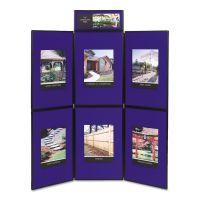 Quartet Show-It! Display System, 72 x 72, Blue/Gray Surface, Black Frame QRTSB93516Q