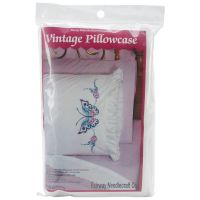 Stamped Lace Edge Ruffled Pillowcases NOTM493920