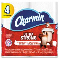 Charmin Ultra Strong Toilet Paper, 2-Ply, White, 4 x 3.92 Sheet, 71 Sheets/Roll, 4 Rolls/Pack PGC99015PK