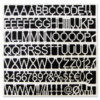 """MasterVision White Plastic Set of Letters, Numbers & Symbols, Uppercase, 1"""" Dia. BVCCAR1002"""