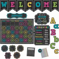 Teacher Created Resources Chalk Brights Accents Brd Set TCR9665