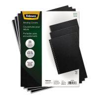 Fellowes Futura Binding System Covers, Square Corners, 11 x 8 1/2, Black, 25/Pack FEL5224901