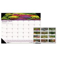 House of Doolittle Recycled Gardens of the World Photo Monthly Desk Pad Calendar, 22 x 17, 2019 HOD174