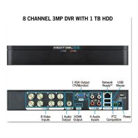 Night Owl 8 Channel Extreme HD 3MP DVR with 1 TB Hard Drive, 1080p Resolution NGTDVRX381