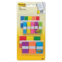 "Post-it Flags 1/2"" and 1"" Page Flag Value Pack, Nine Assorted Colors, 320/Pack MMM683XL1"