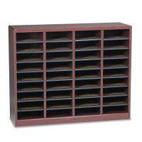 Safco Wood/Fiberboard E-Z Stor Sorter, 36 Sections, 40 x 11 3/4 x 32 1/2, Mahogany SAF9321MH