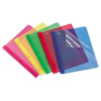 Oxford Translucent Poly Clear Front Report Cover, 3 Fastener, Letter,Assorted, 25/Box OXF99812