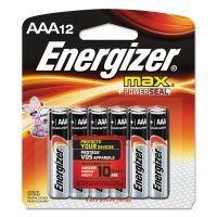 Energizer MAX Alkaline Batteries, AAA, 12 Batteries/Pack EVEE92BP12