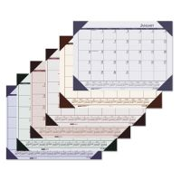 House of Doolittle Recycled EcoTones Sunset Orchid Monthly Desk Pad Calendar, 22 x 17, 2019 HOD12473